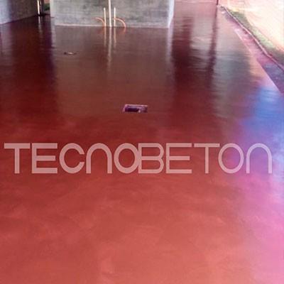Cimento queimado colorido para piso